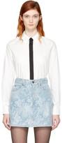 Marc Jacobs White Faux Tie Shirt