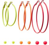 Charlotte Russe Neon Stud & Hoop Earrings - 6 Pack