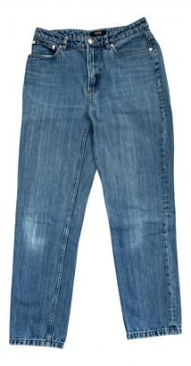 A.P.C. Jean Etroit Court Blue Cotton Jeans