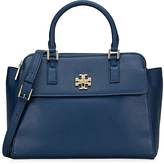 Tory Burch Tidal Wave Mercer Dome Pebble Leather Satchel