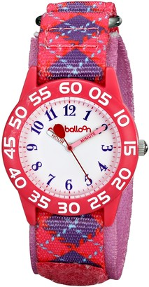 EWatchFactory Red Balloon Kids' W001885 Analog Display Analog Quartz Purple Watch