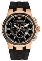 Caterpillar CAT Navigo Carbon Men's Quartz Watch with Black Dial Analogue Display and Black Silicone Strap A5.193.21.119