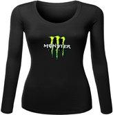 monster energy Printed long sleeve Tops T shirts monster energy Printed For Ladies Womens Long Sleeves Tops