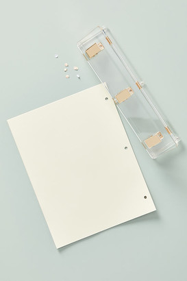 Russell + Hazel Acrylic Three-Hole Punch By Russell+Hazel in Clear