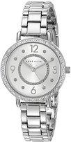 Anne Klein Women's AK/2091SVSV Swarovski Crystal Accented Silver-Tone Bracelet Watch