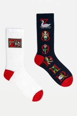Urban Outfitters Twelve Days Of Christmas Socks 2-Pack - assorted at