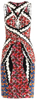 Peter Pilotto Cross-over neck printed dress