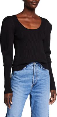 Jonathan Simkhai Mila Rib Knit Scoop-Neck Sweater