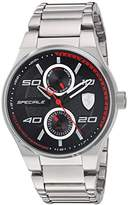 Ferrari Scuderia Men's Quartz Stainless Steel Casual Watch, Color:Silver-Toned (Model: 830358)