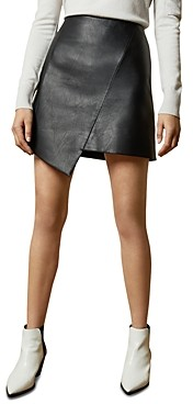 Ted Baker Oolive Asymmetric Faux Leather Mini Skirt