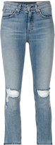 Rag & Bone Jean - distressed cropped jeans - women - Cotton/Polyurethane - 27