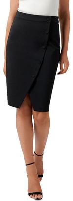 Forever New Leanda Button Thru Pencil Skirt