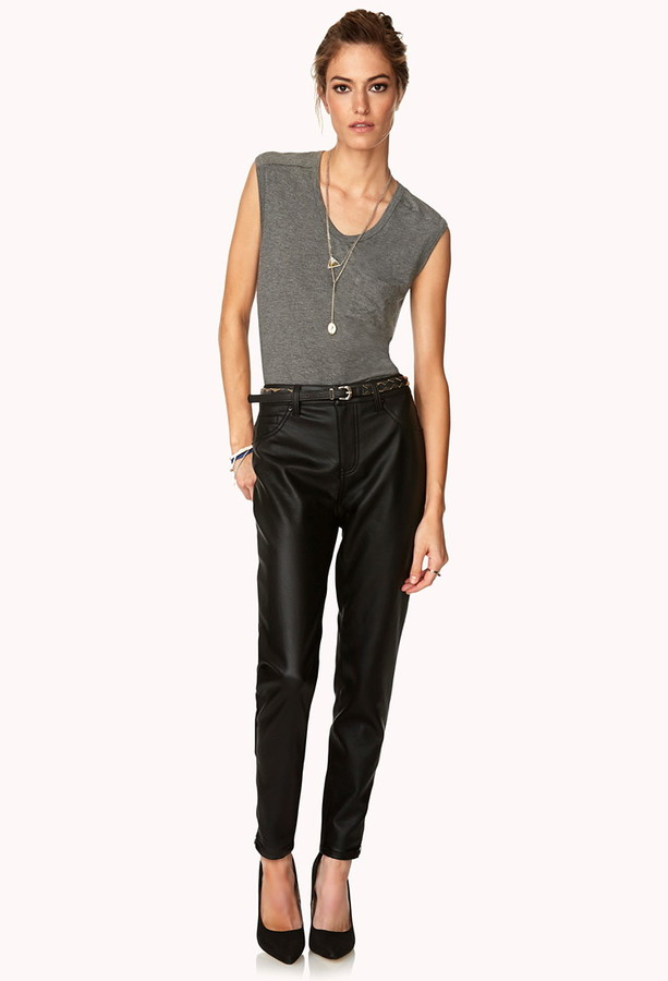 Forever 21 Moto Babe Faux Leather Pants