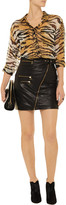 Balmain Pierre Studded leather skirt