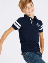 Marks and Spencer Cotton Rich Short Sleeve Polo Shirt (3-14 Years)