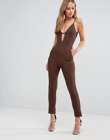 Oh My Love Plunge Bar Front Jumpsuit
