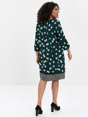 Evans Floral Dress - Green