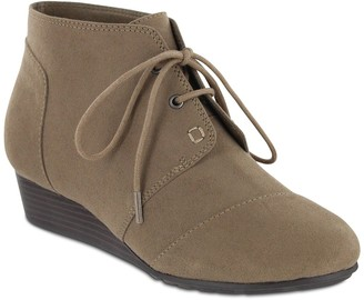 Mia Amore Sarah Lace-Up Wedge Bootie - Wide Width Available