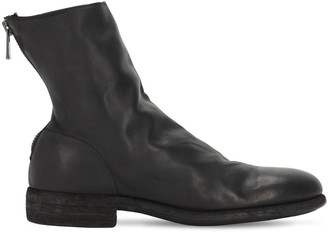 Guidi 1896 30mm Back Zip Leather Biker Boots