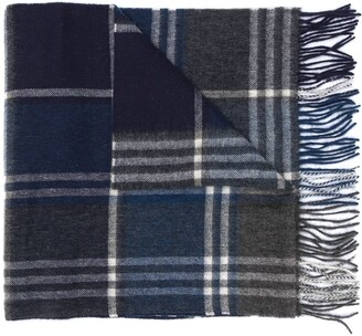 Barbour Tartan Check Fringed Scarf
