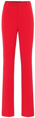 Balenciaga High-rise straight wool pants