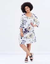 Junarose Hidal Zeenan 3/4 Sleeve Above Knee Dress