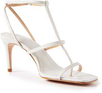 Schutz Ameena Leather T-Strap Sandals