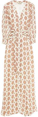 Nicholas Noura Tie-front Printed Silk Maxi Dress