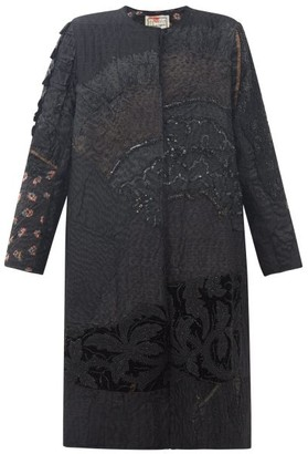 By Walid Tanita Embroidered 19th-century Silk Coat - Black
