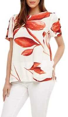Phase Eight Delfie Floral Print Blouse, Multi