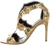 Rupert Sanderson Metallic Caged Sandals