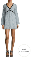 Lucca Couture Velvet Print A-Line Mini Dress