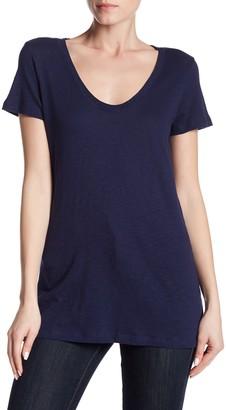 Susina Scoop Neck Slub T-Shirt (Regular & Petite)