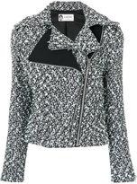 Lanvin tweed double zipper jacket