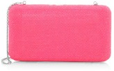 Judith Leiber Couture Slim Rectangle Neon Crystal Clutch