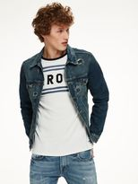 Scotch & Soda Destroyed Denim Jacket - Rocky Road