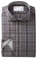 Lorenzo Uomo Plaid Trim Fit Dress Shirt
