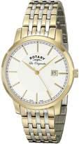 Rotary Men's gb90079/03 Analog Display Swiss Quartz Two Tone Watch