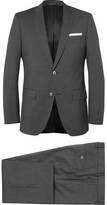 HUGO BOSS Grey Checked Super 120s Virgin Wool Suit
