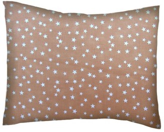 Sheetworld Twin Pillow Case - Percale Pillow Cases - Cloudy Stars Camel