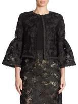Oscar de la Renta Wool & Silk Lace Jacket