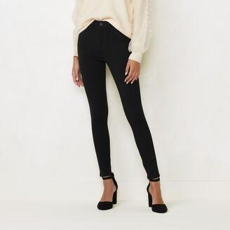 Lauren Conrad Women's High-Waisted Super Skinny Ponte Pants