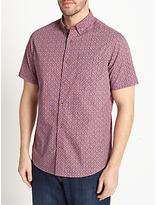 John Lewis Print Short Sleeve Shirt, Purple