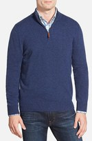 Nordstrom Regular Fit Cashmere Quarter Zip Pullover (Regular & Tall)
