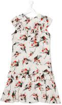 Marni floral frill-trim dress