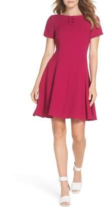 Brinker & Eliza Button Yoke Fit & Flare Dress