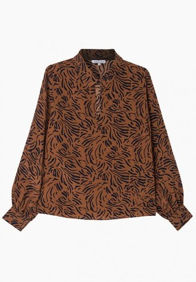 Lily & Lionel Holly Blouse in Zebra Tobacco - XS
