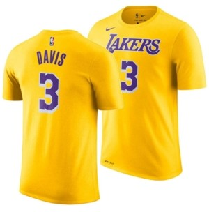 Nike Men's Anthony Davis Los Angeles Lakers Icon Player T-Shirt