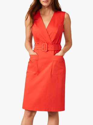 Phase Eight Sloane Belted Wrap Dress, Parrot Red