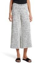 Theory Women's Henriet Kj Jacquard Crop Wide Leg Pants